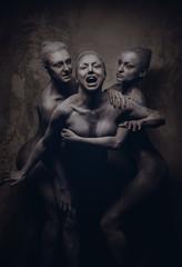 Naked expressive women