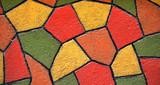 Crépi peint en Mosaique poster