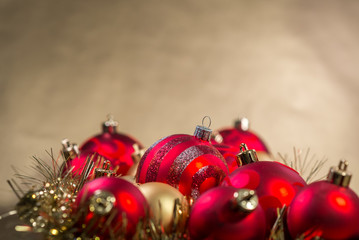 Close-up view of christmas decoration.