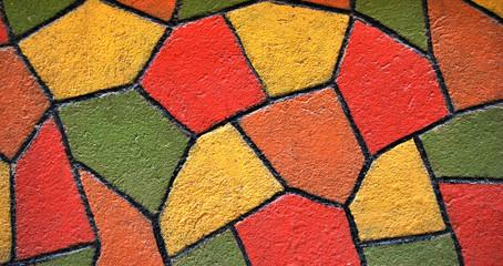Crépi peint en Mosaique