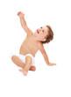 Bambina su fondo bianco