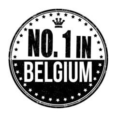 Number one in Belgium stamp