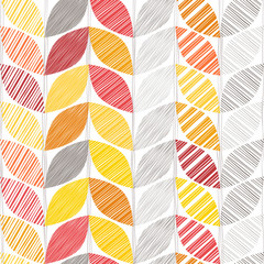 Autumn seamless background with abstract leaves.
