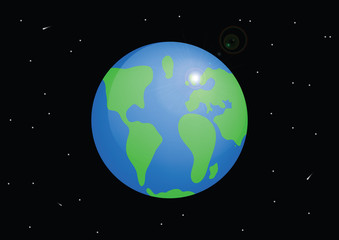 Planet Earth. Cartoon vector