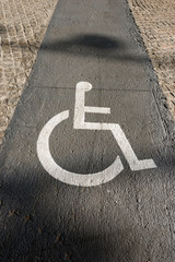 Handicap Sign on Paving - Barcelona Spain