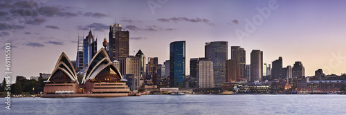 Aluminium Australië Sydney CBD Kirribilli close panorama