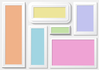Frame with colorfuul  background.