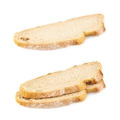 Sliced piece of bread