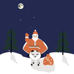 Santa on a sheep