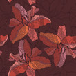 Abstract floral seamless background with  lilies.
