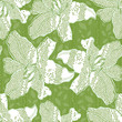 Abstract floral seamless background with white lilies.