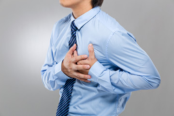 Businessman suffer from heart attack