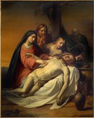 Brussels - Pieta painting in Notre Dame de la Chapelle church