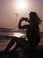 shoot of kite surfer