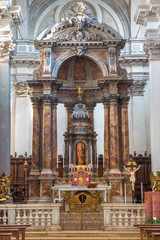 Venice - The main altar in church Santa Maria del Rosario