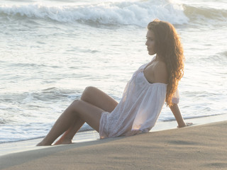 portrait on beach