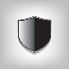 Empty black shield