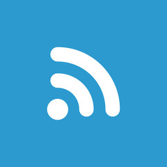 WiFi icon, white on the blue background .