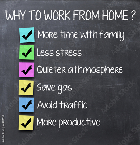 Working from home advantages Poster