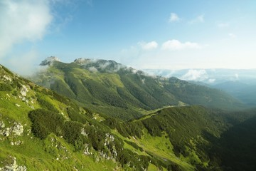 Top Giewont in the Tatras near the town Zakopane in Poland