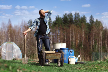 man working in the garden