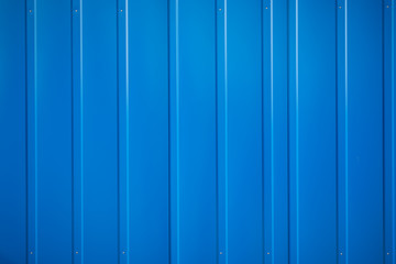 blue metal siding