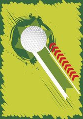 Green golf background for poster