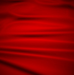 Beautiful Red Silk. Drapery Textile Background,  Illustration