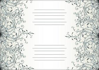 Decorative text card design
