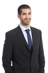 Handsome arab businessman posing confident wearing suit