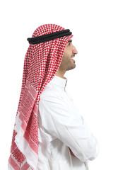 Profile portrait of an arab saudi emirates man