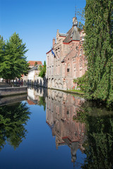 Bruges - Look from Gruuthusesstraat street to canal