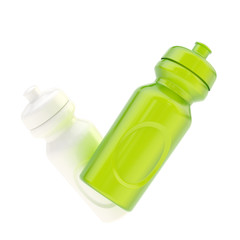 Two drinking bottles isolated