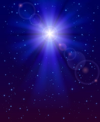 Christmas star in the sky