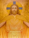 Vienna - Jesus Christ modern fresco in Carmelites church