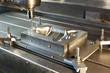Leinwanddruck Bild - Industrial metal mold/blank milling. CNC technology.