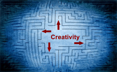 Creativity maze concept