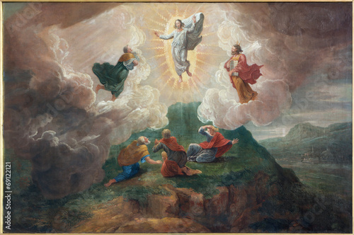 Leinwanddruck Bild Bruges - The Transfiguration of the Lord in st. Jacobs church
