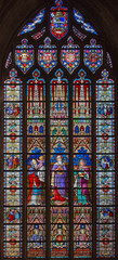 Bruges - Presentation in Temple windowpane in st. Jacobs