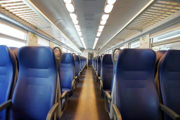 Emtpy train interior