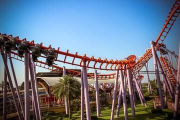 BANGKOK,THAILAND 2013 MARCH 30 Roller Coaster Track at Dream