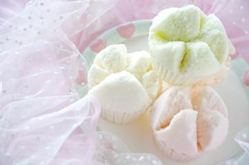 cupcake on sweet background