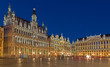Brussels - Grote Markt square and Grand palace in evening.