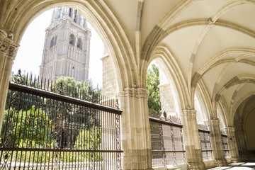 tourism,Cloister of the Cathedral of Toledo in Spain