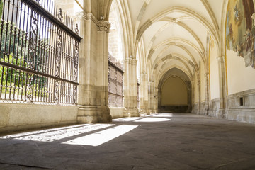 Cloister of the Cathedral of Toledo in Spain
