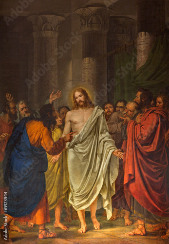 canvas print picture Venice - Resurrected Christ between the Apostles painting