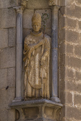christian, facade of the Cathedral of Toledo, Spain