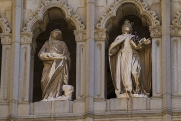 catholic, facade of the Cathedral of Toledo, Spain