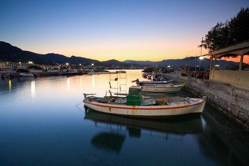 Harbour in Makri Gialos village in southern Crete.