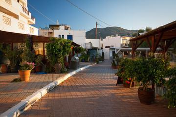 Restaurants in Makri Gialos village in southern Crete.